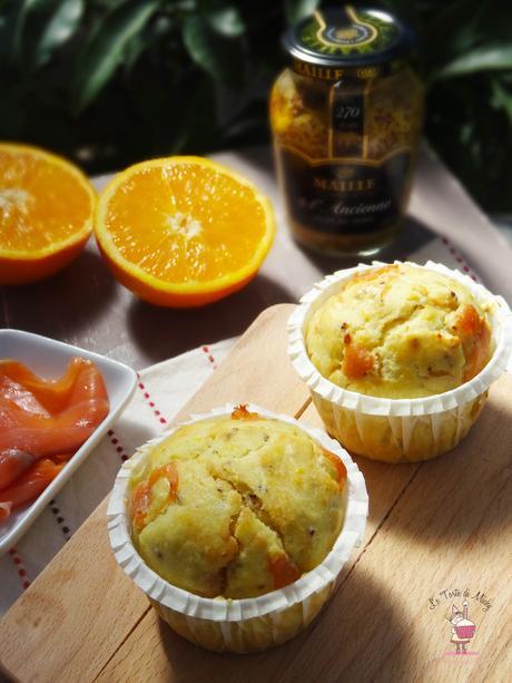 Muffins salmone, arancia e senape all'antica