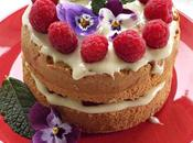 Naked cake soffice senza glutine ganasce cioccolato bianco lamponi