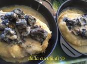 Lumache salsa roquefort polentina