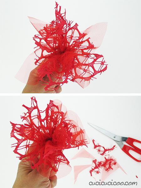 Come Riciclare Il Tulle Dei Confetti Fiori Fai Da Te Paperblog