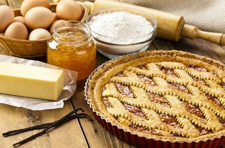 Crostata di albicocche con farina integrale