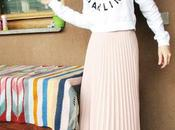 OOTD: Muted Pink Midi Skirt