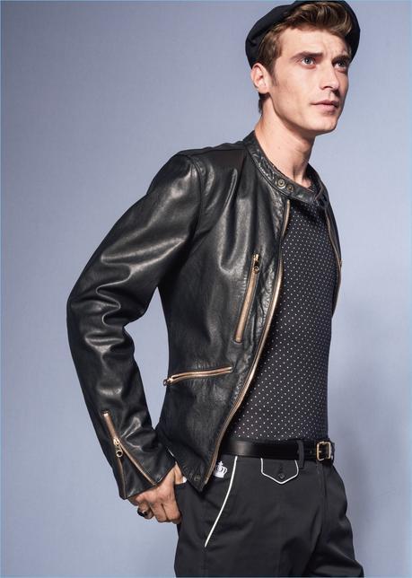 Top model Clément Chabernaud riunisce con Dolce & Gabbana per la primavera-estate 2017.