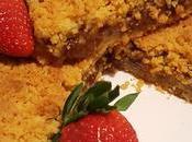 Crostata crumble olio farina soia confettura fragole
