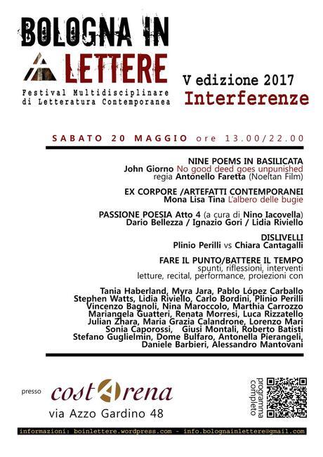 Bologna In Lettere 2017: terzo week end di eventi