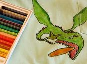 pastelli tessuti disegni t-shirt