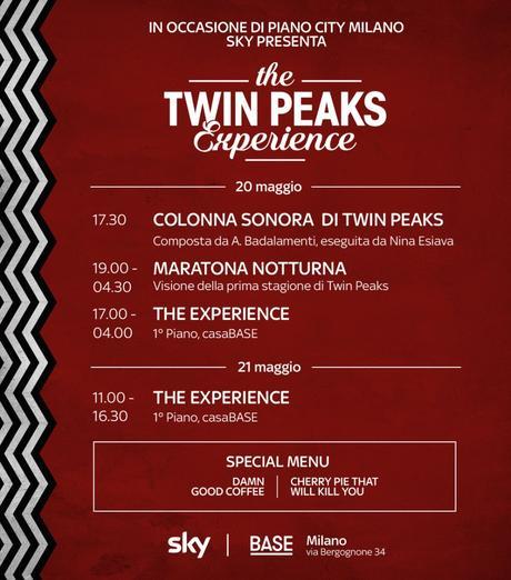 Le Serie Tv di Sky si possono ascoltare, evento speciale dedicato a Twin Peaks.