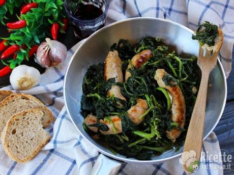 Salsiccia e friarielli napoletani