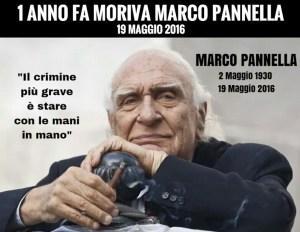 1 anno fa moriva Marco Pannella – 19 maggio 2016