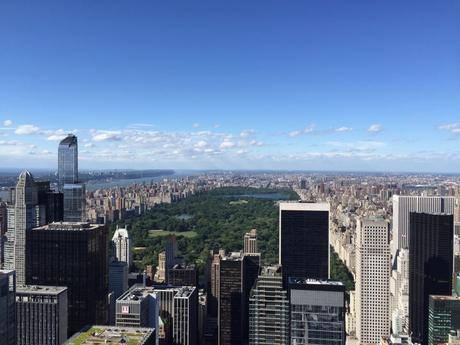 Vista su Central Park dal Rockefeller center