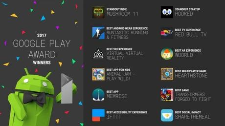 Google Play Award 2017