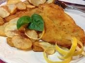 Filetti platessa fritti alla birra limone chips patate