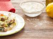 Alici fritte farina limone ripiene mozzarella zucchine.
