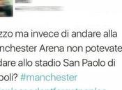 """Tweet della vergogna: """"Invece Manchester potevate andare Napoli?"""""""