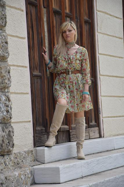 Color Block By FelyM.: OUTFIT ABITO STAMPA A FIORI