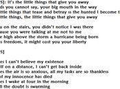 little things that give away: traduzione testo audio primo singolo estratto nuovo album