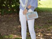 Outfit striped shirt white jeans camicia righe bianche rouches abbinata bianchi