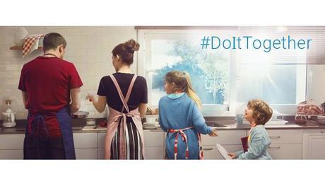 Famiglia felice, ovvero aiutarsi a vicenda   #DoItTogether