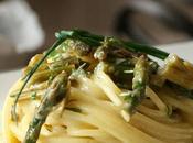 Spaghetti alla Carbonara Asparagi Erbe Aromatiche