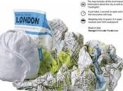 Mappa Londra cartina stoffa design Palomar: Crumpled City™