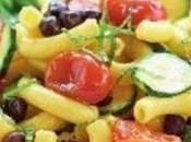 Insalata pasta fresca ceci neri, pomodorini arrosto, zucchine menta