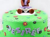Torta decorata compleanno bimba orsetta pasta zucchero