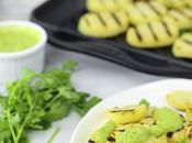 Patate grigliate salsa zucchine alla menta