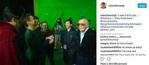 Avengers: Infinity War, una nuova foto di Stan Lee sul set del film