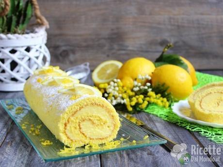 Rotolo al limone di pasta biscuit