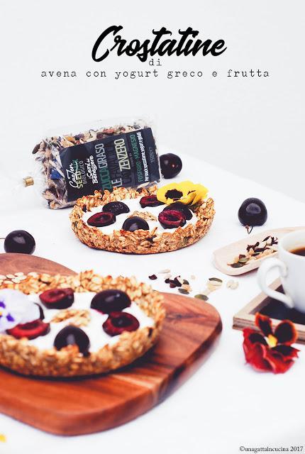 Colazione fit | Crostatine di avena con yogurt e frutta fresca