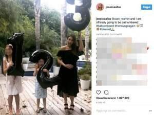 Jessica Alba incinta: l'annuncio su Instagram