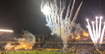 Recibimiento of Rosario Central supporters – tifo, passion & proshow vs Godoy Cruz(Video)