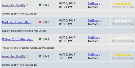 Cydia (iOS 9.3.x/iOS 10.x) – I Tweak già testati e funzionanti [Aggiornato 19.07.2017]