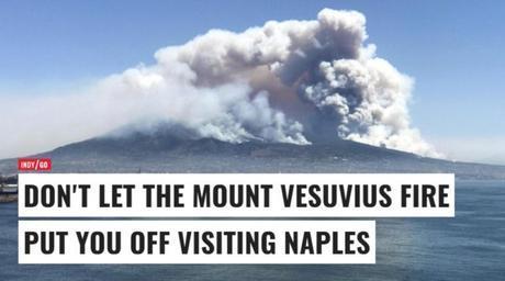 """Vesuvio, l'Indipendent: """"Napoli ha un fascino immenso, visitatela nonostante i roghi"""""""
