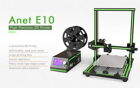 Stampante 3D ANET E10 in offerta su Gearbest – Codice Sconto
