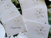 Partecipazioni matrimonio tema inverno cristalli neve total white