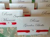 Segnatavolo matrimonio card tableau mariage tema cuori rosso