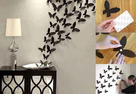 decorare-pareti-di-casa-origami