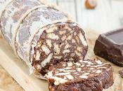 Salame dolce cioccolato senza cottura