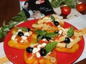 Peperoni ripieni pasta, mozzarella olive