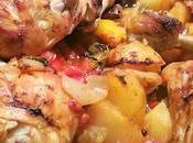 Pollo forno Peperoni Patate