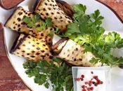 Involtini melanzane pesce spada salsa allo yogurt pepe rosa