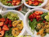 Antipasto mazzancolle, avocado frutta