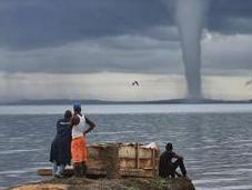 Uganda molti giorni sono corso delle violente perturbazioni atmosferiche anomale