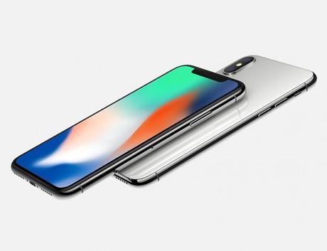 iPhone X argento