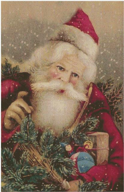 Babbo Natale Punto Croce Schemi Gratis.Schemi Gratis Pr Il Punto Croce Cartoline Di Natale Con Babbo