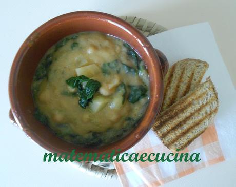 Zuppa di Ceci, Patate e Spinaci