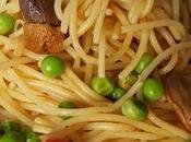 Spaghetti porcini secchi, pomodorini piselli