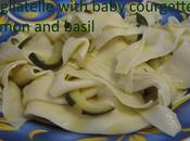 Recipe Tagliatelle with Baby Courgettes, Lemon Basil