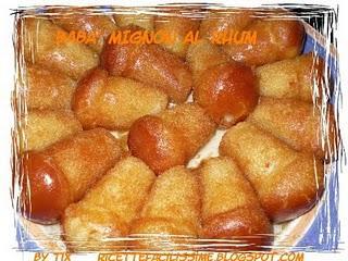 BABA' MIGNON AL RHUM (ricetta Bimby)
